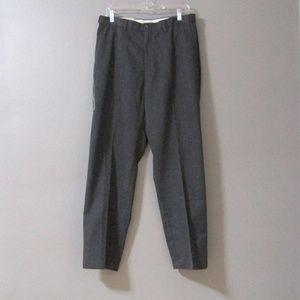 NEW Haggar Gray Flat Front Dress Pants 33 x 30